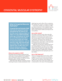 Congenital Muscular Dystrophy Fact Sheet