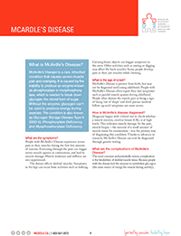 McArdle's Disease Fact Sheet
