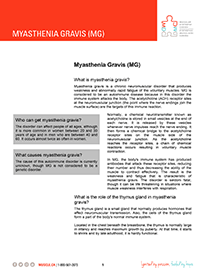 Myasthenia Gravis Fact Sheet