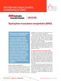 Dystrophies musculaires congénitales fiche d'informations