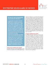 Dystrophie musculaire de Becker fiche d'informations