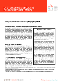 Dystrophie musculaire oculopharyngée fiche d'informations