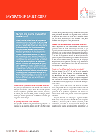 Myopathie multicore fiche d'informations