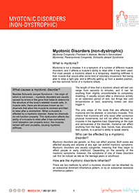 Myotonic Disorders Fact Sheet