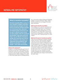 Nemaline Myopathy Fact Sheet