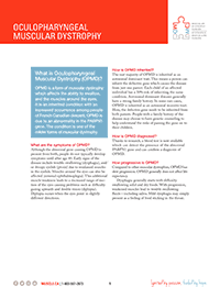 Oculopharyngeal Muscular Dystrophy Fact Sheet