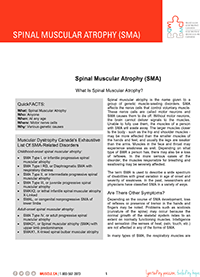 Spinal Muscular Atrophy Fact Sheet